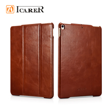 ICARER Vintage Flip Shockproof Genuine Leather Cover Case For iPad pro 10.5