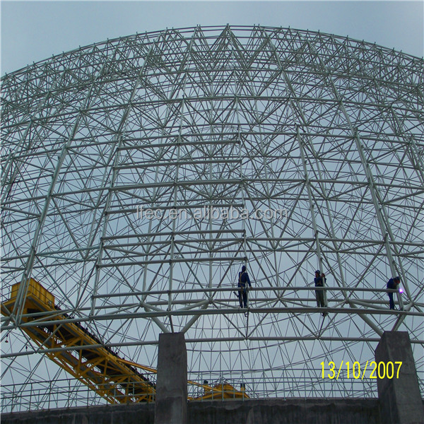 Anti-seismic Steel Structure Prefab Dome House for Coal Yard