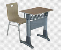 Ergonomic school table and chair set single student panel is wood top
