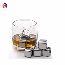 Whiskey/Vodka/Gin/Rum/Tequila Stones Reusable Cooling Stainless Steel Ice Cubes Gift Set for Drinks