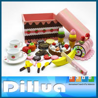 Wooden Kitchen Toy Cake Play Set