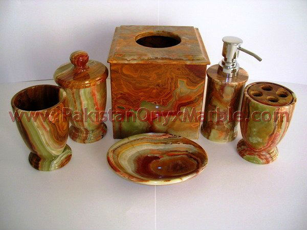 NATURAL STONE ONYX BATHROOM ACCESSORIES