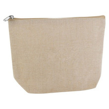 Waterproof Eco-friendly Embroidery Linen Cosmetic Bag