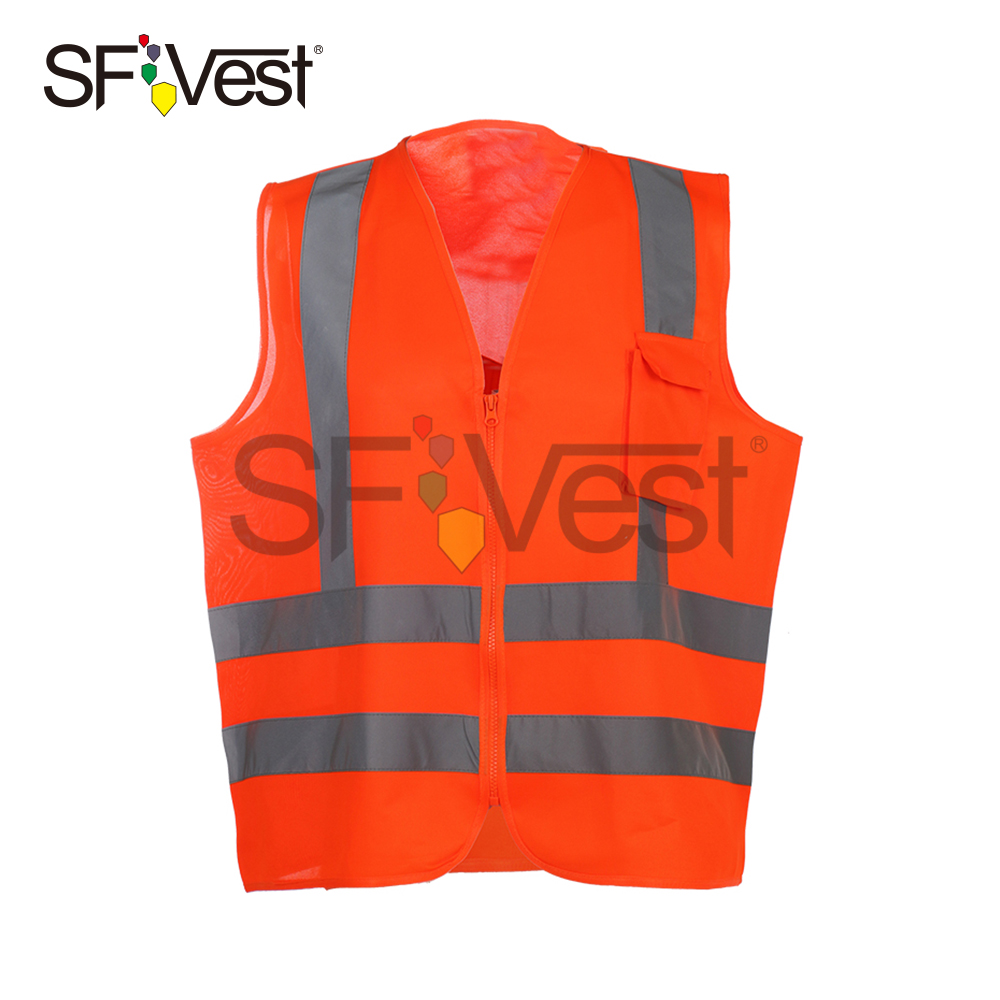 canton fair polyester hi visibility reflective safety vest for men traffic security warning vests with pocket chaleco de trabajo