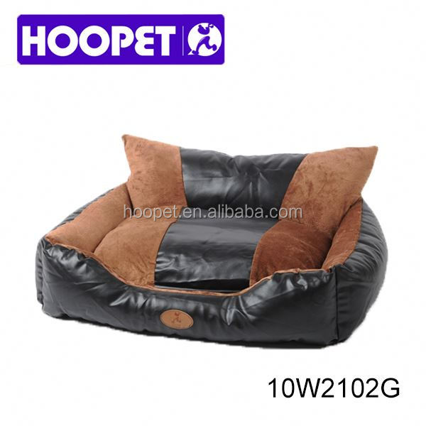 Large luxury PU leather best dog sofa best large dog beds