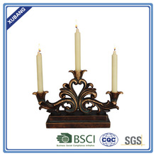 Poly Resin Best Sale Bulk Home Decor Classic Three Heads Candle Holder