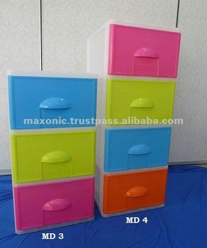 Plastic Storage Drawer (3 & 4 Layers)
