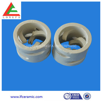 25mm 38mm 50mm 80mm Ceramic Packing Pall Ring