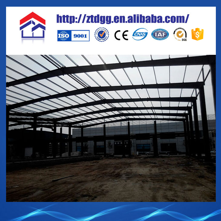 Fast assebly Light prefab steel structure house roof model for poultry house