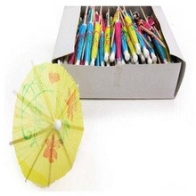 Colourful Paper Decorative Picks Umbrella Cocktail Picks