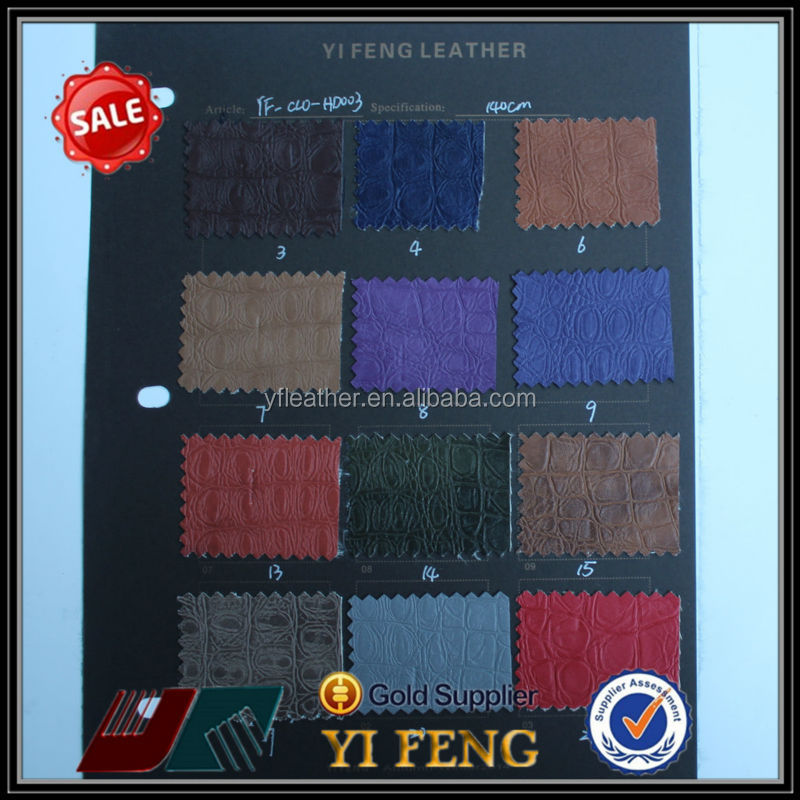 cheap popular snake skin pu leather for clothing