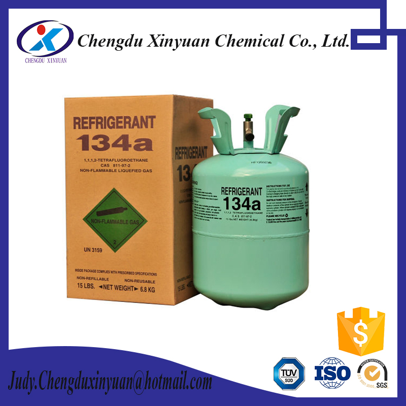 Refrigerant Gas R134a with disposable cylinders