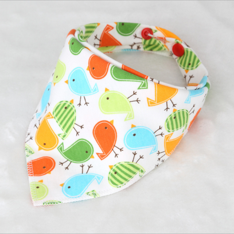 Korean edition children's triangle towel double button to adjust the baby's bib infant toddlers clothing baby bibs baby bibs
