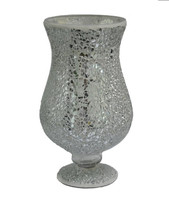 White mirror glass decorative gift mosaic candle holder