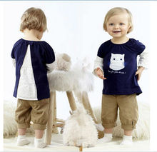 lovely and cute baby girls owl cartoon designer clothing sets kids outfits baby clothes