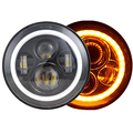 "Round 7"" led headlight for Jeep, halo 7 inch motorcycle headlight"