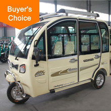 electric closed cabin solar passenger tricycle for sale