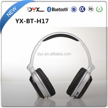 2017 new arriving foldable wireless bluetooth headphone leather wireless headphones bluetooth in ear hearing aid