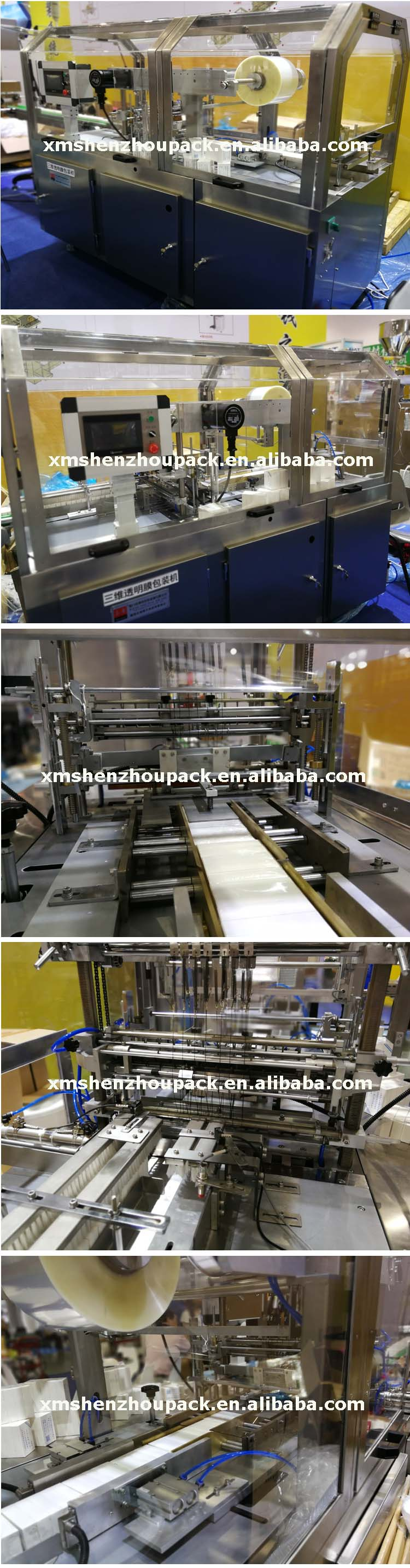 Automatic Cellophane BOPP PVC Plastic Film Box Overwrapping Machine with Tear Tape Applicator for Tea Bag Perfume Cosmetic