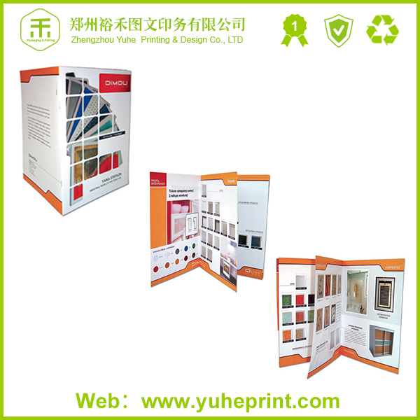 Colorful coated paper brochure and company catalogue printing light catalog in china with OEM