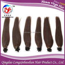 New Style Brown Color Brazilian U/Nail Tip Hair Extension Cuticle Remy Unprocessed Wholesale Virgin Brazilian Hair