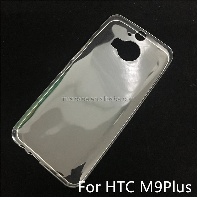 Soft TPU Silicon Transparent Clear Case for HTC M9 plus
