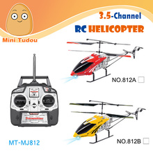 Mini Tudou High Quality Safe under steps rc Helicopter MT-MJ812 Supersize 3.5-CH Steady Flight Remote Control Helicopter