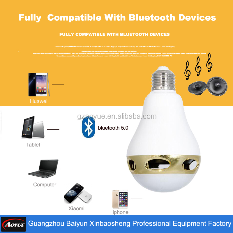 new products 2016 innovative product ideas Mobile Phone control Smart LED LIght Bluetooth Bulb Speaker