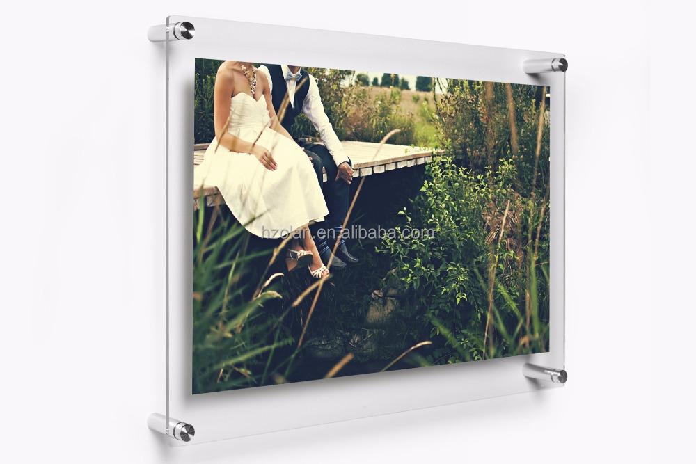 Top class import acrylic material wall mounted acrylic picture photo frames