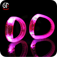 Direct wholesales Printing logo ABS Motion Sensor Led Flashing Wristband
