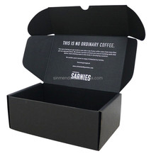 Customized Made black Small Corrugated Paper shipping boxes custom logo/foldable custom shipping boxes