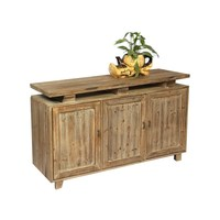 Country style high quality white solid wooden kitchen cabinet