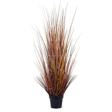 LSD-170601329 150cm Artificial Onion Grass with Cattails in Pot Fake Grass for Decoration