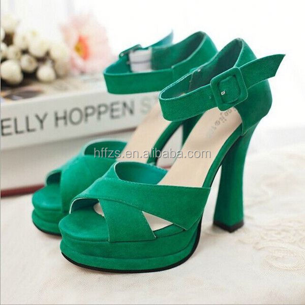 HFR-T0067 summer 2014 wholesale latest design peep toe fashion women high heel sandals