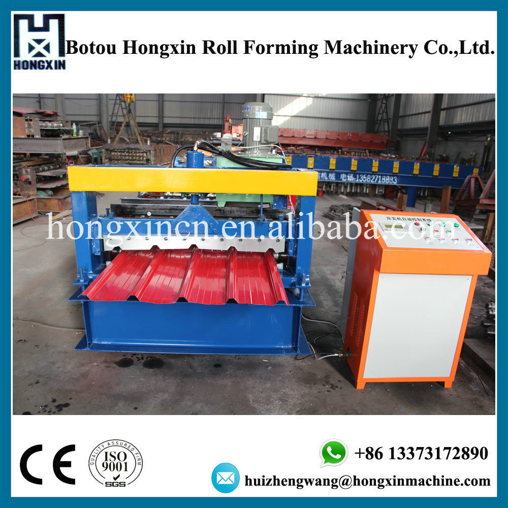 Trapezoidal Profile Roof Wall Panel Metal Cold Forming Machine hydraulic system/ high speed rolformer equipment made in china