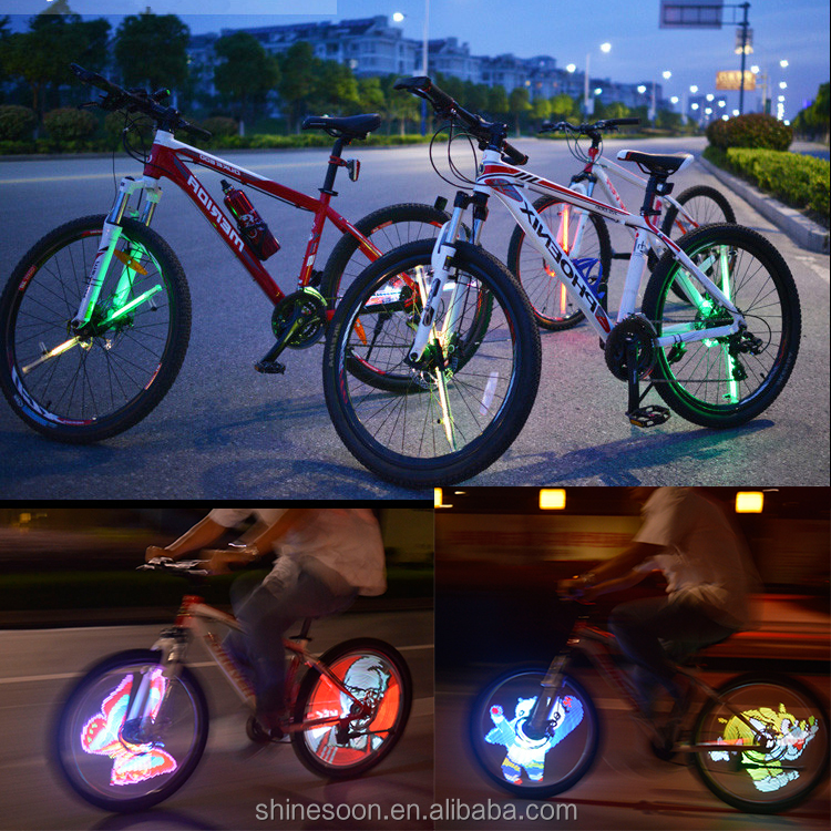 Bike accessories fashion led diy bicycle tire fly light