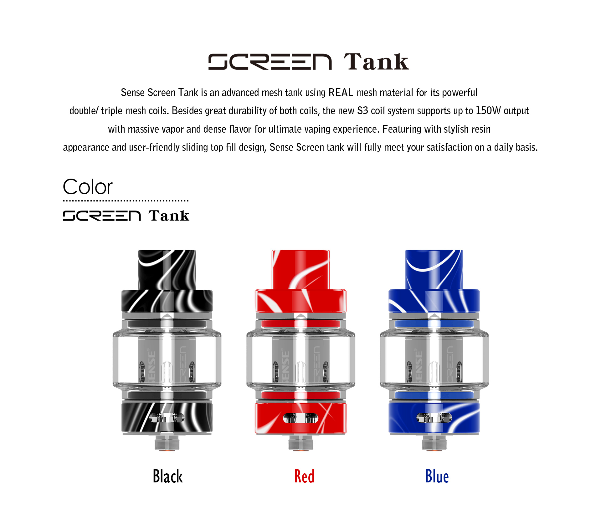 Red & Purple, Black & White, special edition-Wood sense Screen tank