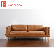 scadinavian sectional living room pure leather sofa