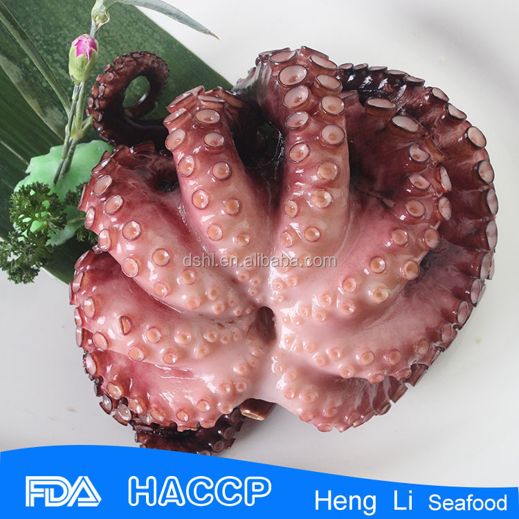 HL089 healthy fresh bqf raw flowered octopus