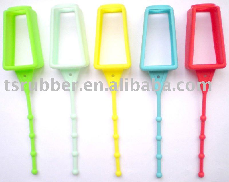 Hand Sanitizer Silicone Holders with different colors