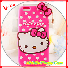 Hello Kitty 3D Cute Series Soft Silicone Cover Case For iphone