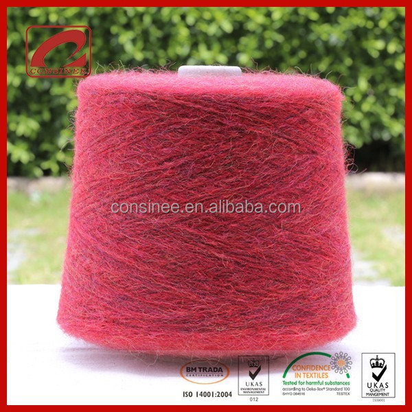 Kid Mohair and Wool blended elastic knitting yarn, Nice fancy knitting yarn
