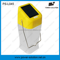 solar LED camping lantern with 2 light options for indoor or outdoor, solar lamp