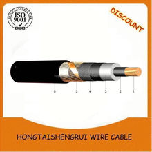 Three core aluminum round stranded compacted with xlpe insulated HDPE sheathed High voltage cable