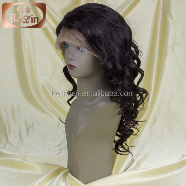 wholesale cheap 100% Peruvian virgin human hair full lace wig in dubai
