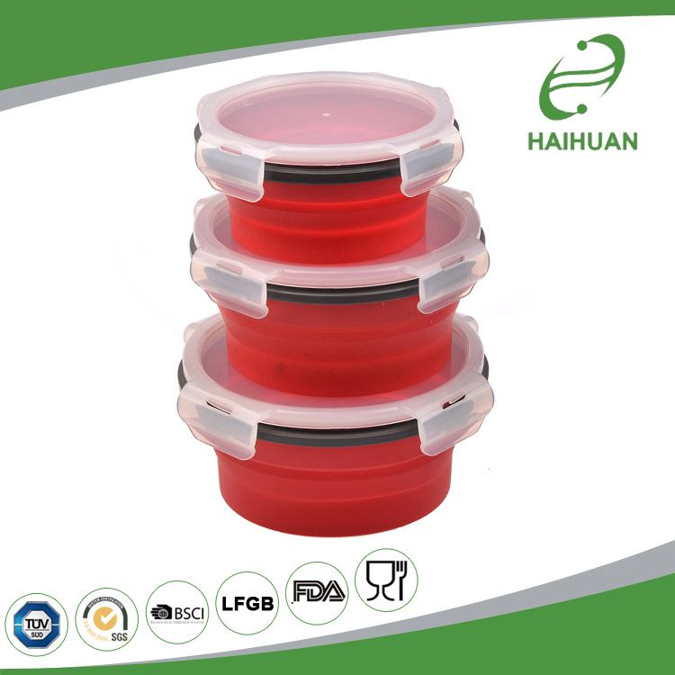 Hot selling factory directly rectangular silicone food storage container