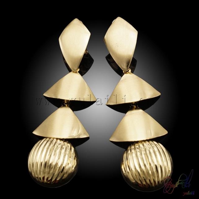 wholesale 22k gold jewellery indian bridal kangan earrings stylish earring young leafs girls
