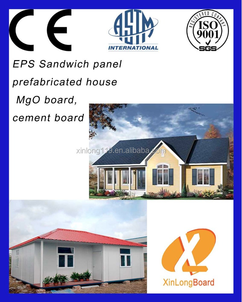 CE testing standard EPS sandwich panels to make Prefab Houses