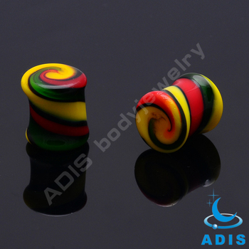 Piercing jewelry mixed colors ear plugs tunnel glass body jewelry wholesale