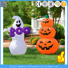 Inflatable Halloween white ghosts and pumpkin for yard decoration